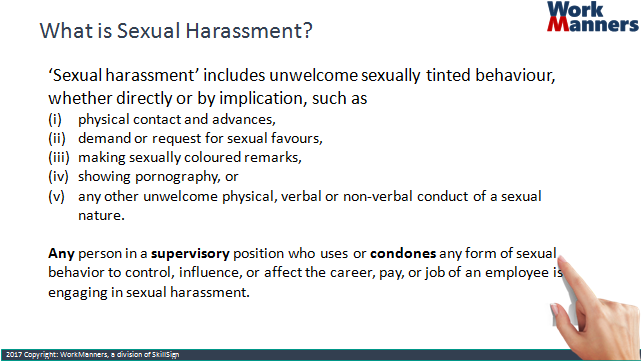 Sexualharassment definition