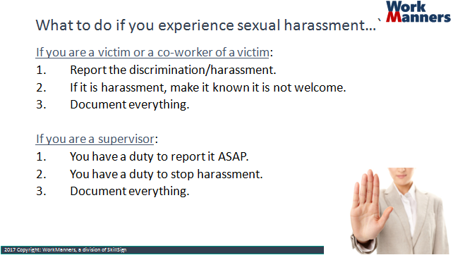 What sexual harassment is not